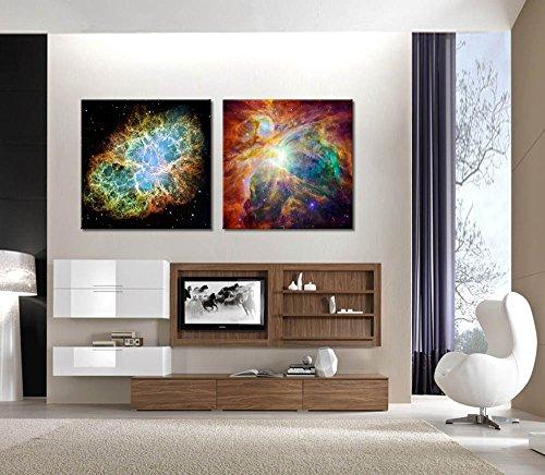 The Cosmic Cloud Orion Nebula and Crab Nebula Wall Decor x 2 Panels