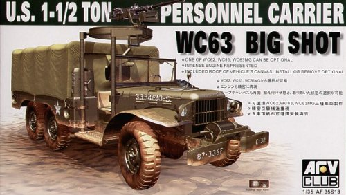 AFV Club Models 1/35 WC-63, Dodge G-507, 1 1/2 ton, 6x6 Cargo Truck ()