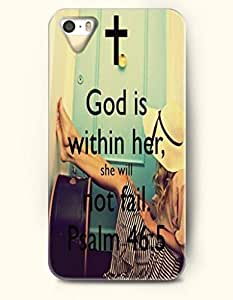 iPhone 4 / 4s Case God Is Within Her, She Will Not Fail. Psalm 46:5 - Bible Verses - Hard Back Plastic Case - OOFIT Authentic