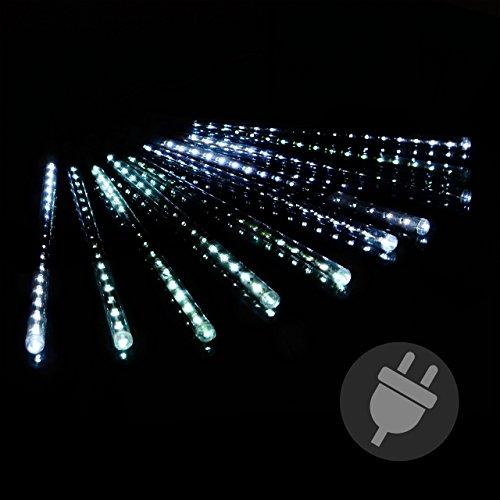 Lichterregen Lichterkette 180 LED Meteor Effekt Party Weihnachten weiß Außen