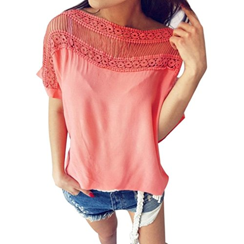Neck T-shirt Roll (Jinjin Hot Sales!Womens Blouse, Womens Printed Tops Loose Sleeveless O- Neck T-Shirt Blouse Fashion (Pink, S))