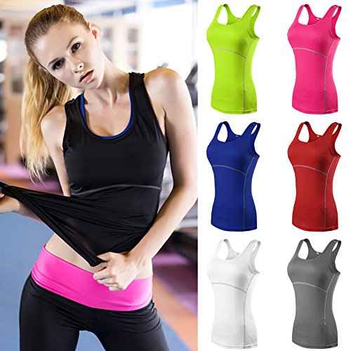 Large Product Image of Romacci Women Yoga Sport Tank Top Sleeveless Running Wortout Fitness Top Sportwear