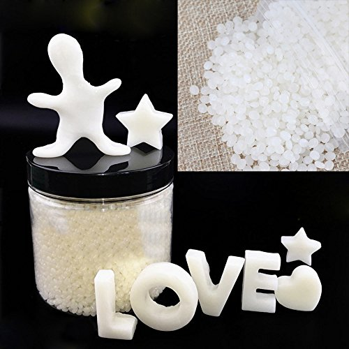 Moldable Plastic Pellets,1.8oz DIY Polymorph Thermoplastic Polycaprolactone Moldable Plastic Pellet,Plasti Make Crafts, Tools, Grips, Repairs, Games, Costumes, Jewelry, Robot Parts