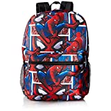 Marvel Boys' Spiderman All Over Print Backpack, Blue