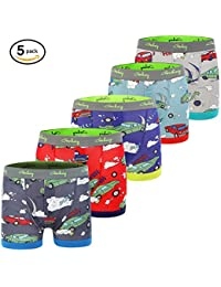 Boys 5-Pack Boxer Briefs Cars Truck Kids Underwear