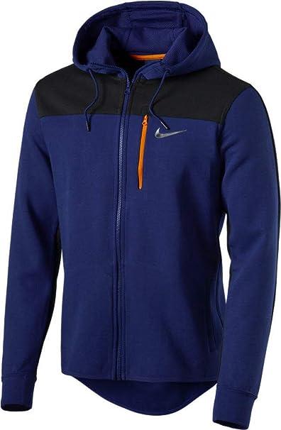 Nike AV15 FLC FZ HDY Herren Sweatshirt mit Mütze L Azul