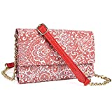 Cross-body phone case wallet organizer w coin purse and card holder