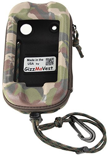 Garmin Montana 650 680 610 600 CASE made in the USA by GizzMoVest LLC. Camo w/ Cord Loop, Belt Clip & Lanyard w/Clip. by GizzMoVest LLC