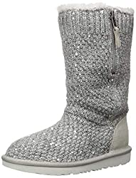 Kids Sequin Knit Boots