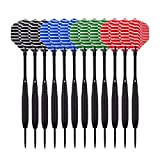 Wolftop 12 Pack Steel Tip Darts 23 Grams with Aluminum Shafts and 4 Style Flights, Extra Dart Sharpener Included