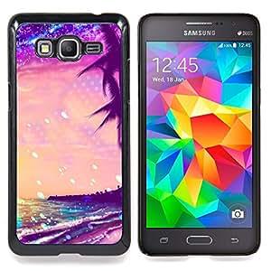 - Stars Glitter Purple Palms Miami Tropics - - Monedero pared Design Premium cuero del tir???¡¯???€????€??????????&fn