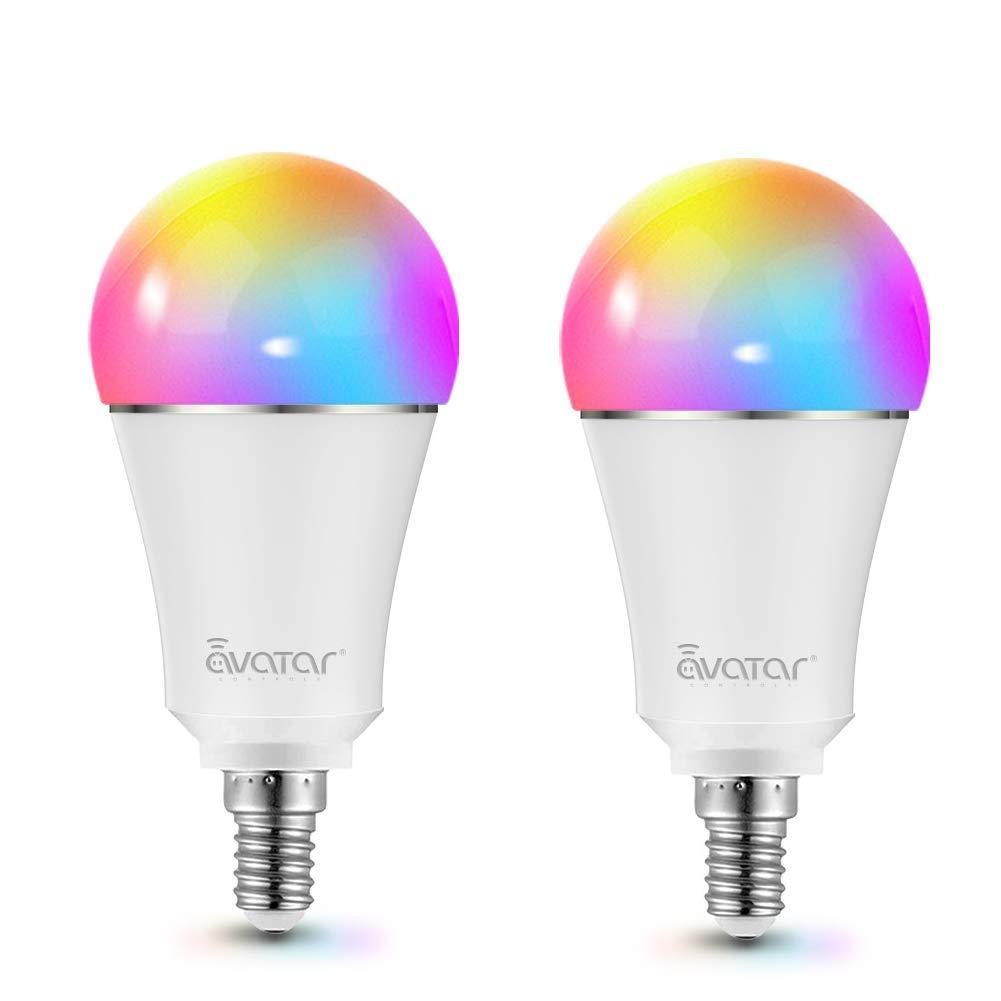 Bombilla LED WIFI Inteligente E14 de 9W a Través de la APP, Control de Voz, Compatible con Alexa, Google Home,...