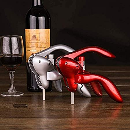HCFSUK Abridor de Vino Brazo de Palanca Sacacorchos Screwpull Vino Tinto Cerveza Abrebotellas ala Sacacorchos Screwpull Accesorios para Quitar Corcho,