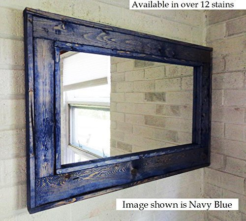 Renewed Décor Herringbone Reclaimed Wood Mirror in 10 stain