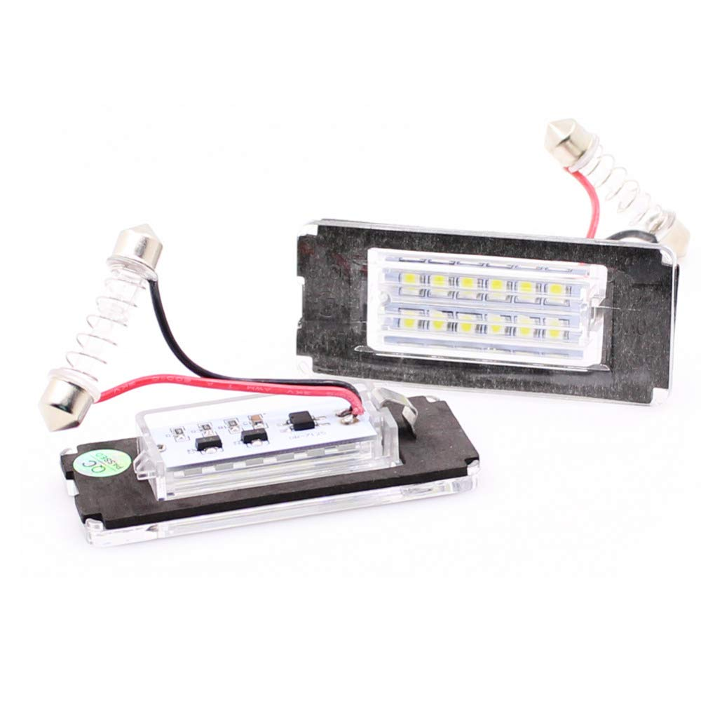 GZLMMY 2Pcs No Error LED License Plate Light Number Lamp for Mini Cooper R56 R57 R58 R59 White