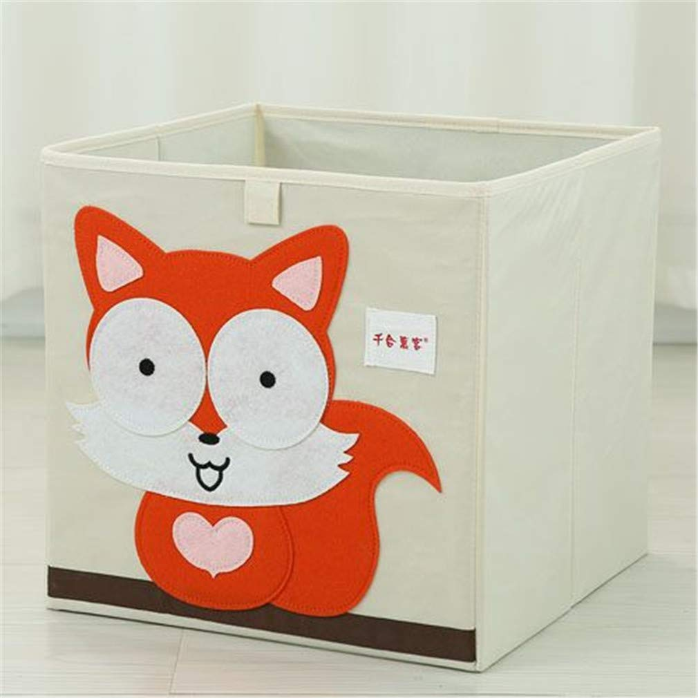 VADOLY 3D Embroider Cartoon Animal Foldable Kid Toy Organizer Clothes Storage Bin for Socks Underwear Ties Bra Desktop Box by VADOLY (Image #6)