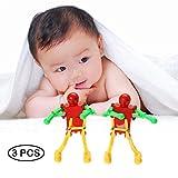 Clockwork Wind Up Dance Dancer Dancing Vivid Robot Children Kids Toy Christmas Gift 3 Pack