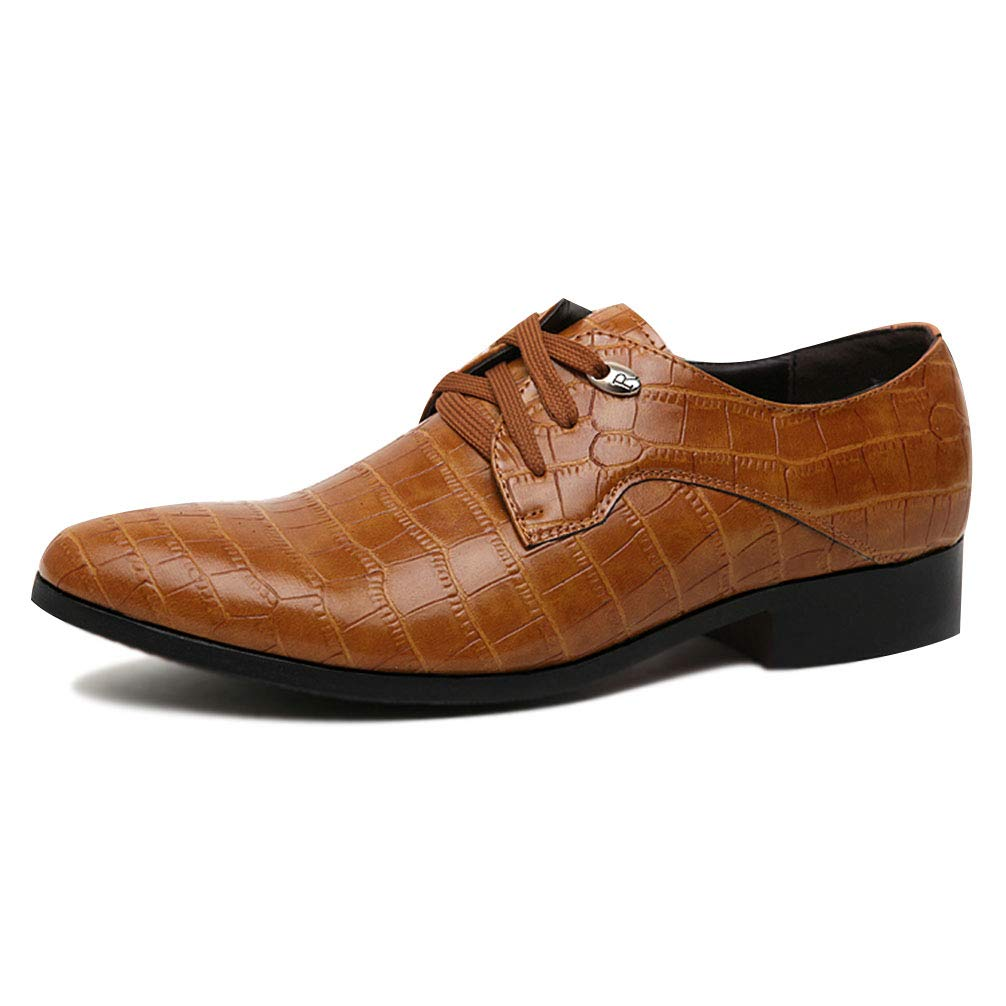 Men Dress Shoes Lace-up Pointed Toe Business Fashion Oxford Shoes