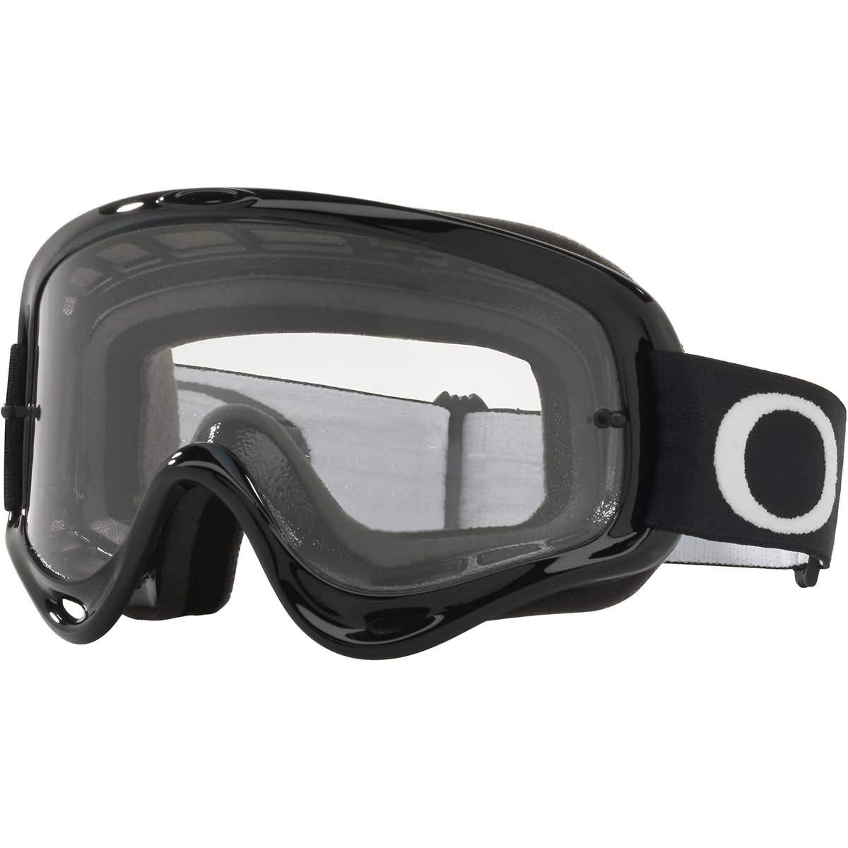 Oakley O Frame MX Adult Off-Road Motorcycle Goggles - Jet Black/Clear by Oakley