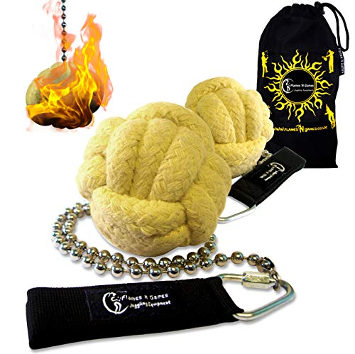 (Pro Fire Poi Fist set 'Lion Paw' + Travel Bag by Flames 'N Games (Lion)