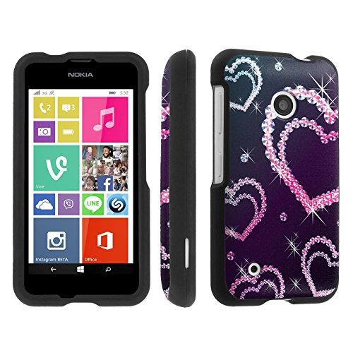 Skinguardz Nokia Lumia 530 (Diamond Hearts) Designer Hard Protector Case