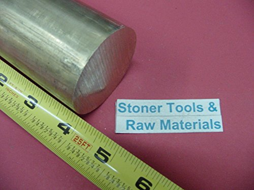 2'' C360 BRASS ROUND ROD 4'' long Solid 2.00'' OD x 4.00'' H02 Lathe Bar Stock by Stoner Metals