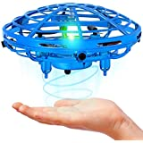 Mini Drone For Kids and Adults, Hand Operated flying Toy With 360° Rotating and LED Lights, Kids Drone, Hand Drone, Ufo Drone, Hand Controlled Flying Ball, Indoor Toys for 5 6 7 8 9 10 11 12 Years
