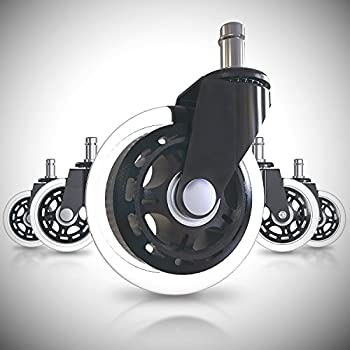 Amazoncom Office chair wheels replacement rubber chair casters
