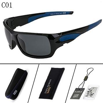 Mjia sunglasses Gafas Deportivas Hombre,Gafas de Sol polarizadas Gafas de Sol,Deportivas,Pesca,Driving,Golf, Negro 1: Amazon.es: Deportes y aire libre