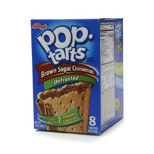Pop Tarts Toaster Pastries, Unfrosted Brown Sugar Cinnamon 8 ea (Pack of 2)