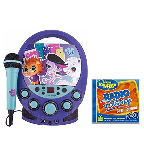 Littlest Pet Shop CDG Karaoke Player with Radio Disney Chart Toppers CDG -  Ace Karaoke, HSAKAI04081+SDIS1186EG