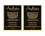 SheaMoisture Eczema & Psoriasis Therapy African Black Soap, 5 oz - 2pc