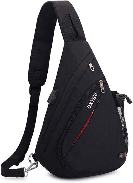 Men And Women Casual Crossbody Shoulder Bag Sling Chest Pack Bag Travel Backpack