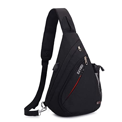 Men Women Chest Bag Pack Travel Sport Shoulder Sling Cross Body Outdoor Casual Messenger Bag Bridal & Wedding Party Jewelry