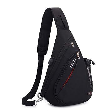 0424a241cea17 SINOKAL Sling Bag Chest Shoulder Backpack Casual Crossbody Shoulder  Triangle Packs Daypacks for Men Women Canvas