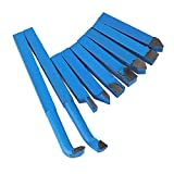 BQLZR 10 x 10mm Blue YT15 Alloy Carbide Tip Tipped Cutting Set Cutter Tool Bit for Metal Lathe Tooling Pack of 9