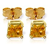 ALARRI 0.7 CTW 14K Solid Gold Love Lives For Seconds Citrine Earrings