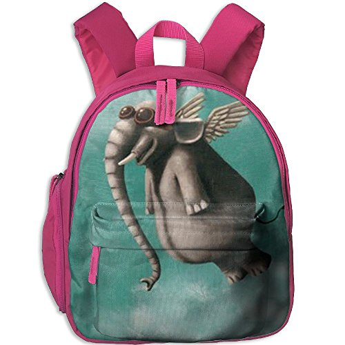 Lightweight Kids School Backpacks Flying Elephant With Sunglasses School Bag Custom Printed Book Bags Cute Daypacks Perfect Gift For - Sunglasses Printed Custom