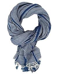 Ella Jonte mens scarf grey blue grey casual-style cotton