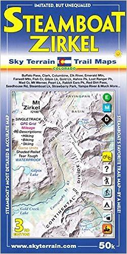 Steamboat Springs Mount Zirkel Trail Map 3rd Edition: Sky Terrain ...