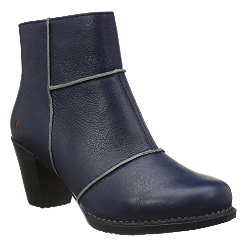Genova Leather - Art Womens 0478 Genova Blue Leather Boots 39 EU
