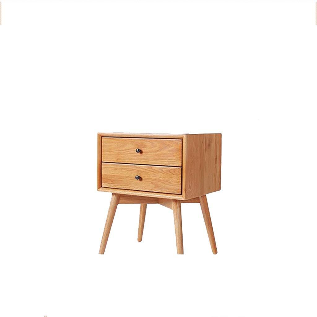 DYHOZZ Nachttisch mit Stofflager Schublade Pine Holztisch 2 Tier Endtisch mit Schublade, for Schlafzimmer Studie und Mode blau (Color : Walnut Color)