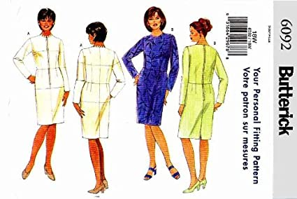Butterick 6092 Shell Pattern And Dress Misses Fitting Size 26w rxBoedC