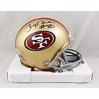 $145 » Jerry Rice Autographed San Francisco 49ers Mini Helmet - Beckett W Auth Black