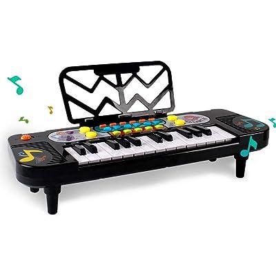 TFACR Educación temprana Instrumento de Piano, Juguete de Piano Regalo con Sonidos de Animales y luz 1 2 3 años de Edad Juguete para bebés, Piano para bebés Música para niños y niñas Juguete: Hogar
