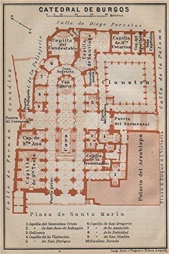 Mapa De España Burgos.Amazon Com Cathedral Catedral De Burgos Floor Plan Spain