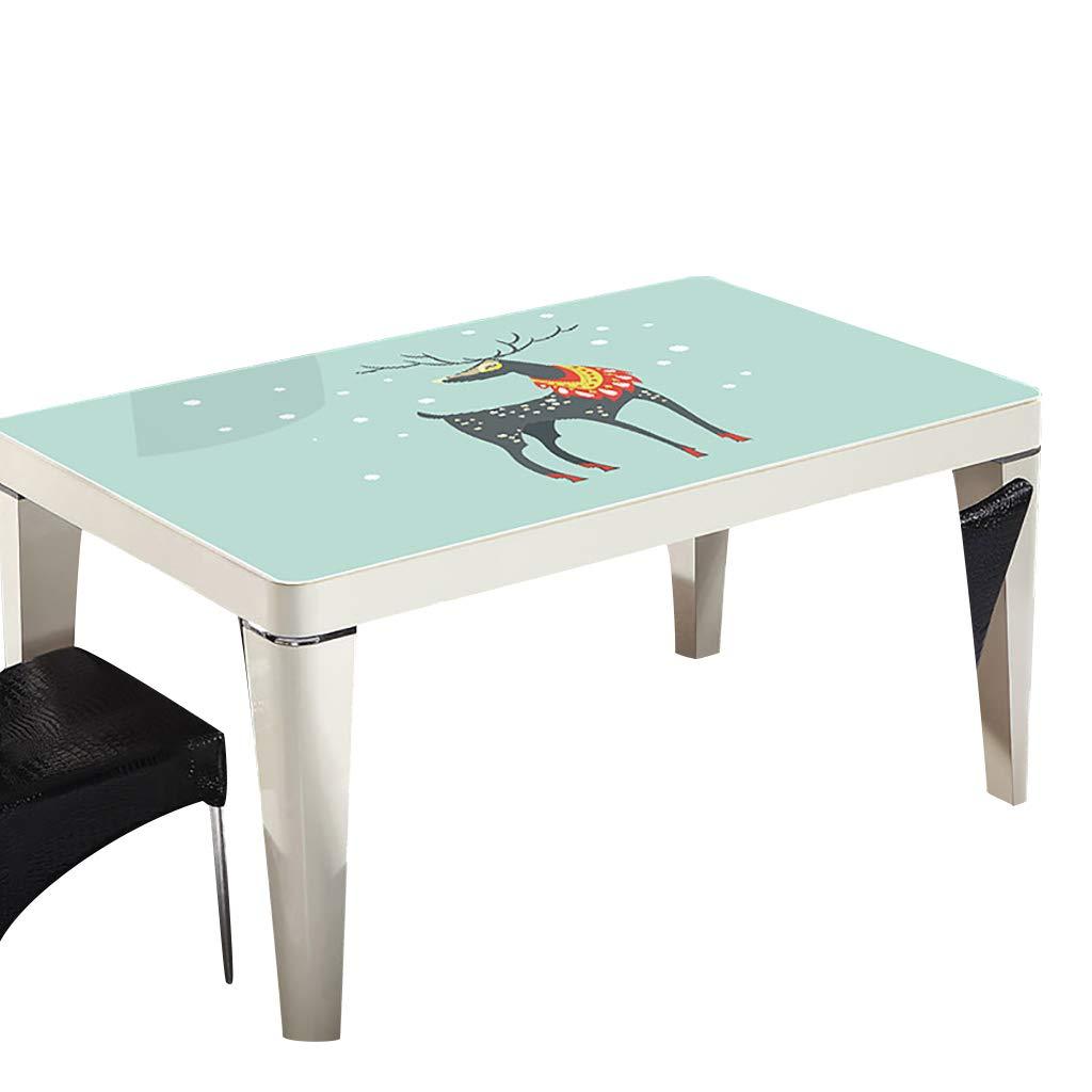 テーブルクロスソフトグラスPVC 70x120cm防水アンチホットアンチオイル簡単クリーンテーブルプロテクターコーヒーティーテーブルマットプラスチックテーブルクロス (サイズ さいず : 70x140cm) 70x140cm  B07S4MJFG1