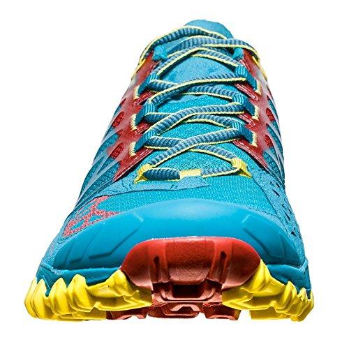 Chaussures De Course De Trail Muttiva La Sportiva Mutant - Ss18 Bushido Tropic Blue / Cardinal Rouge Talla: 44