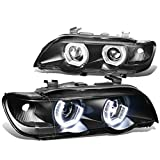 2001 bmw x5 headlights unit - For BMW E53 X5 Pair of Black Housing 3D Crystal Halo Projector Headlights