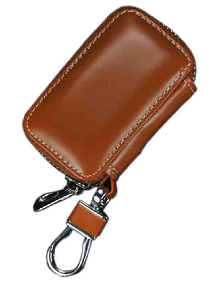 Youngate Car Key Chain Holder PU Leather Zipper Case Remote Wallet Bag Cover